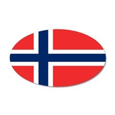 Flag of Norway 22x14 Oval Wall Peel