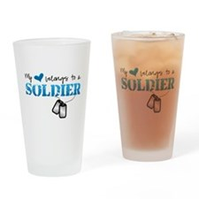 My heart belongs to a Soldier Drinking Glass