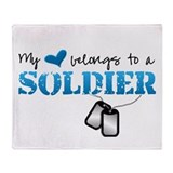 My heart belongs to a Soldier Throw Blanket