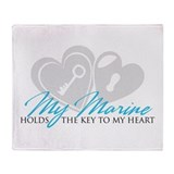 Key to my Heart Throw Blanket