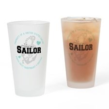 Property of a US Sailor Drinking Glass