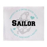 Property of a US Sailor Throw Blanket