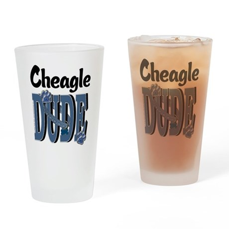 Cheagle DUDE Drinking Glass