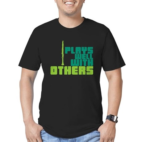 Clarinet (Plays Well With Others) Men's Fitted T-S