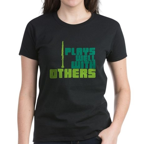 Clarinet (Plays Well With Others) Women's Dark T-S