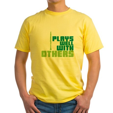 Clarinet (Plays Well With Others) Yellow T-Shirt