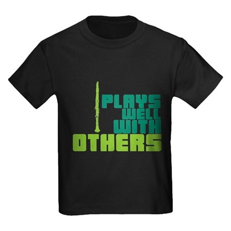 Clarinet (Plays Well With Others) Kids Dark T-Shir