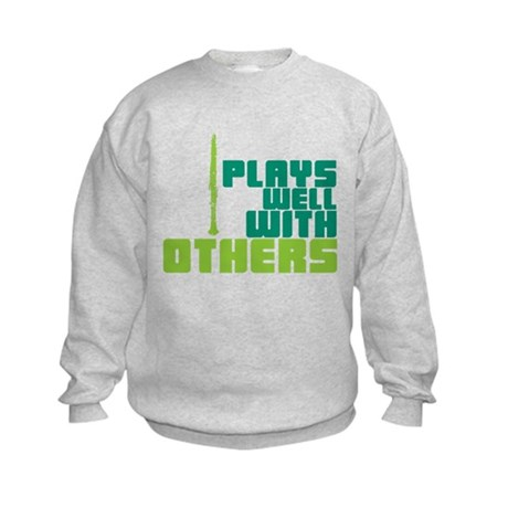Clarinet (Plays Well With Others) Kids Sweatshirt