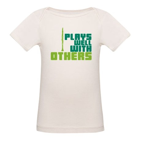 Clarinet (Plays Well With Others) Organic Baby T-S