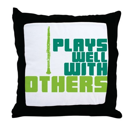 Clarinet (Plays Well With Others) Throw Pillow