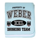 Weber German Drinking Team baby blanket