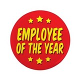 "Employee of the Year 3.5"" Button"