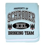 Schroder German Drinking Team baby blanket