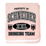 Schneider German Drinking Team baby blanket