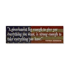 Jefferson Quote Car Magnet 10 x 3
