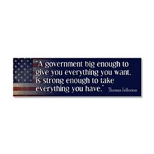 Jefferson Big Government Car Magnet 10 x 3