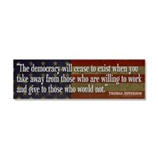 Conservative Quotes Car Magnet 10 x 3