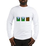 Comic Strip Chocolate Lab Long Sleeve T-Shirt