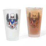 Puerto Rico Wings and Skull Drinking Glass