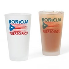 Puerto Rico Stripes Drinking Glass