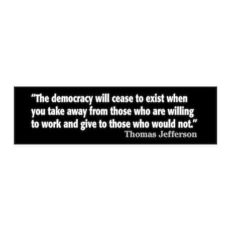 Thomas Jefferson Quote 21x7 Wall Peel