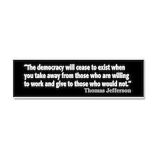 Thomas Jefferson Quote Car Magnet 10 x 3