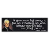 Thomas Jefferson Quote Bumper Sticker