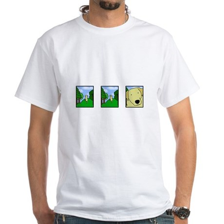 Comic Strip Yellow Lab White T-Shirt