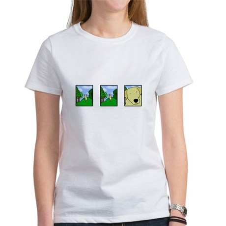 Comic Strip Yellow Lab Women's T-Shirt