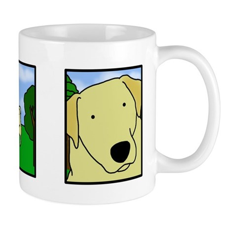 Comic Strip Yellow Lab Mug