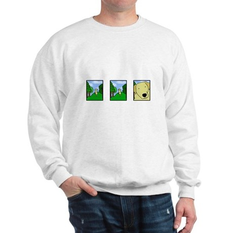 Comic Strip Yellow Lab Sweatshirt