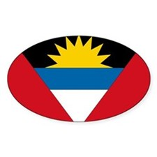 Antigua & Barbuda Flag Oval Decal