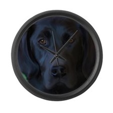 Cute Black box Large Wall Clock