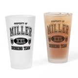 Miller German Drinking Team Drinking Glass