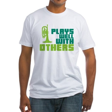 Mellophone (Plays Well With Others) Fitted T-Shirt