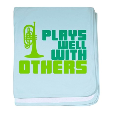 Mellophone (Plays Well With Others) baby blanket