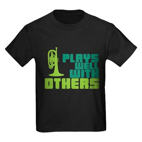 Mellophone (Plays Well With Others) Kids Dark T-Sh