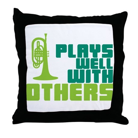 Mellophone (Plays Well With Others) Throw Pillow