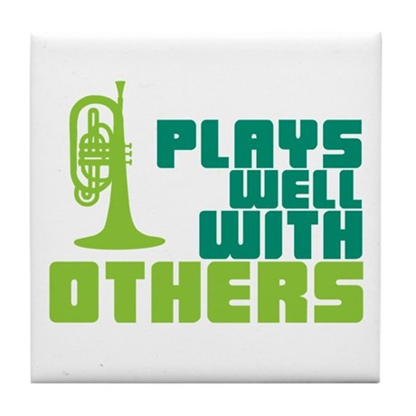 Mellophone (Plays Well With Others) Tile Coaster