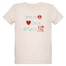 Peace, Love and Drums T-Shirt