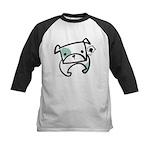 Tough Bulldog Puppy Kids Baseball Jersey