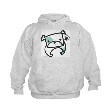Tough Bulldog Puppy Kids Hoodie