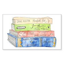 Jane Austen Books Decal