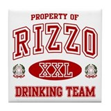 Rizzo Italian Drinking Team Tile Coaster