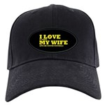 Funny my wife football Black Cap