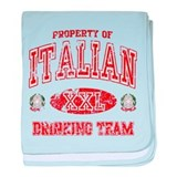 Italian Drinking Team baby blanket
