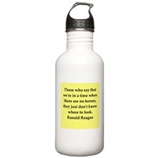 Ronald Reagan quote Sports Water Bottle