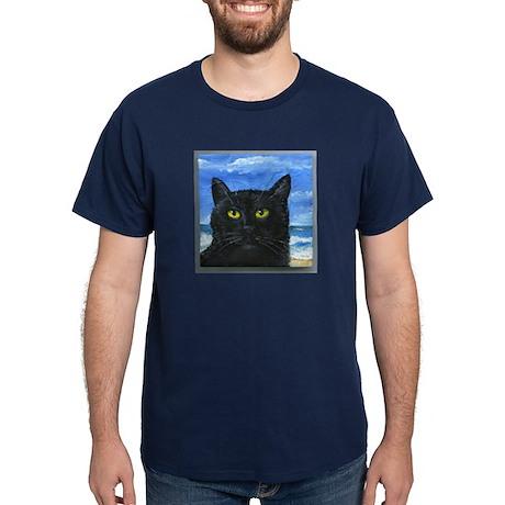 Black Cat at Capitola Dark T-Shirt