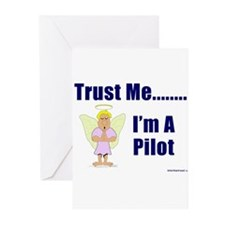 Trust Me, I'm A Pilot II Greeting Cards (Package o