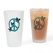 Peaceful Blue Butterflies Pea Drinking Glass